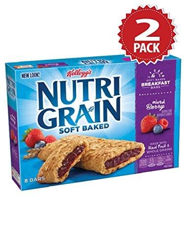 Nutri-grain Cereal Bars (Kellogg's Nutri-Grain Mixed Berry Cereal Bars - 2er Pack (2x295g))