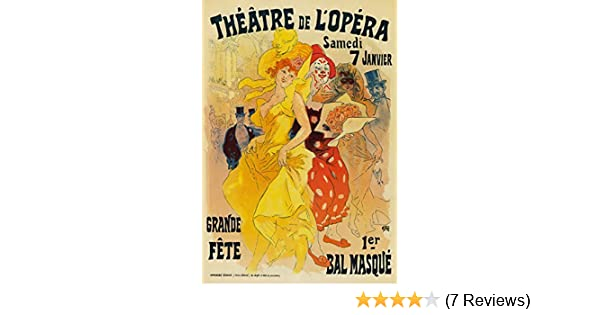 AP63 Vintage Opera Theatre Masqurade Cheret Advertisement Poster Card Print A5