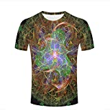 lingshirt Men 3D Tshirts Unisex Colorful Dancing Whirlpool Light Fashion Summer Tees Top L