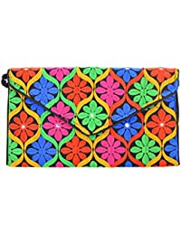 Kwickdeal Silk Clutch (Multicolor)