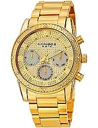 ef02cdc17d8b Akribos AK1040 - Reloj de pulsera para hombre con esfera brillante de nácar  con diamante y