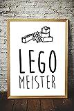 Papierschmiede Kinderposter | Kinderzimmer Deko Junge Mädchen | DIN A4 Poster | Bilder fürs Babyzimmer ohne Bilderrahmen Kunstdruck | Motiv: Lego Meister