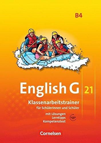 English G 21 - Ausgabe B / Band 4: 8. Schuljahr - Klassenarbeitstrainer mit Lösungen und Audio-Materialien (4 Lösung)