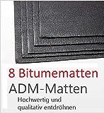 Bitumenmatte, Anti/Droehn/Matte, 500x200x2,7mm, selbstklebend (8 Stück) Türdämmung Dämmung Dämmmaterial Dämmmatte Carhifi Autohifi Oldtimer