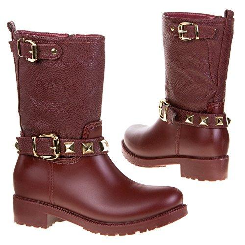 Trendy Gummistiefel Damen Schuhe Stiefel GUMMI BOOTS 36- 41 Rot