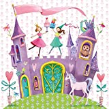 PPD Princess Castle Servietten, 20 Stück, Tischservietten, Tissue, Bunt, 33 x 33 cm, 1331520