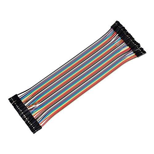 Ganvol 40PCS 20cm weiblich zu weiblich lötfreie Flexible Breadboard Jumper Kabel Draht für Arduino, Raspberry Pi Modell A/Modell B 11+ 23/Computer Modul/Zero -