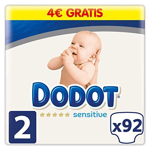 Dodot Sensitive Pañales Talla 2, 92 Pañales, 4-8 kg