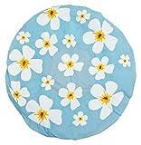 Duschhaube Blau Shower Cap Blumen-Motiv