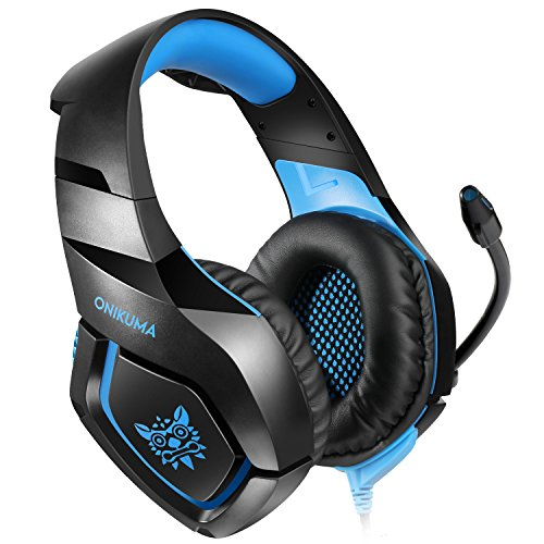 ONIKUMA PS4 Gaming Headset über Ohr Stereo Gaming Kopfhörer mit Noise Cancelling Mic für Nintendo Switch PS4 Xbox One PC Laptop Smartphones
