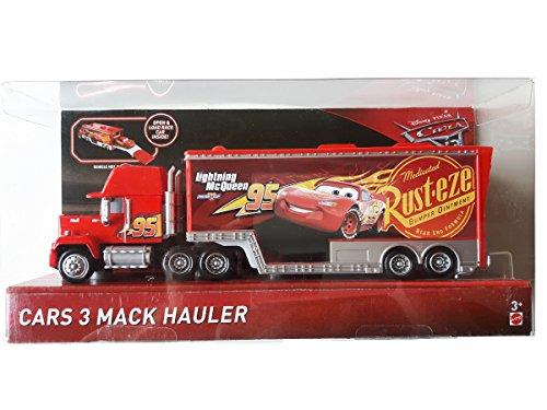 Disney Pixar Cars 3 Mack Hauler Truck - Servicetruck von Lightning McQueen mit 2 aufklappbaren Ladeflächen