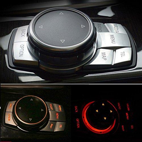 Wylore Innen Chrom Multimedia-Button Cover Trim Dekoration Auto Styling Aufkleber ABS für BMW 7Serie E60X 5F15X 6F16E70E71E72