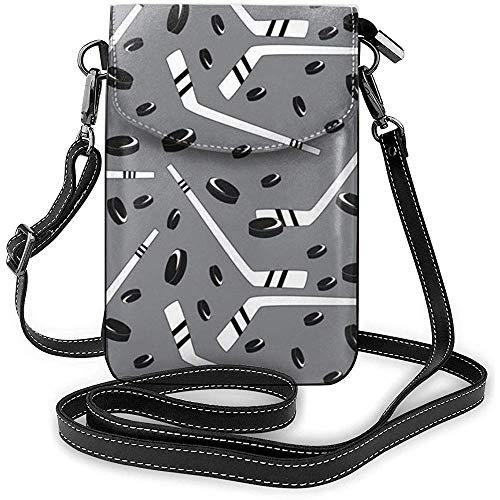 Hockey-Muster-Handy-Geldbeutel-Geldbörse für Frauen-Einkaufsreise-kleine Crossbody-Tasche