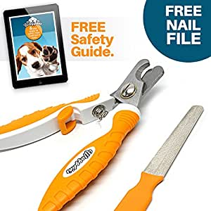 Best Professional Dog Nail Clippers With FREE Nail File. Suitable for Small, Medium and Large Dogs. BONUS E-Book How-To-Guide With Every Order! Pet Claw Trimmer With Unique Raised Tip, Super Sharp Blades and Comfortable Rubber Slip Free Handles