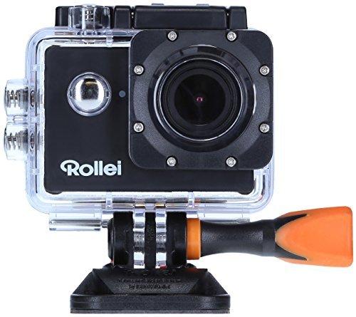 Rollei Actioncam 525 - Wifi Action Cam (Actionkamera) mit 4k Video Auflösung, Weitwinkelobjektiv, bis 40 m Wasserfest, inkl. Unterwasserschutzgehäuse und Fernbedienung - Schwarz