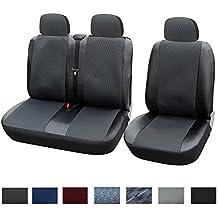 WOLTU Sitzbezug Sitzbezüge Schonbezug Schonbezüge Auto sitzschoner Auflage 1+2 Sitzbezüge Schwarz/Grau AS7323-1-a