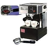 Quick Mill 0820 Schwarz Espressomaschine Made in Italy ,Siebträger Espressomaschine Special Special mit Bodenloser Siebträger und std Siebträger