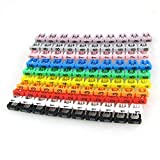 Nacpy Cable Markers Labels Plastic Electric Cable Marker Coded Cord Number 0-9 Assorted Colorful Cord Cable Labels Markers Cable Organizer Tag 10 Pc