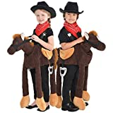 Ride on Pony Kids Fancy Dress Carry Me Animal Horse Cowboy Childrens Kid Costume