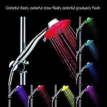 7colori Modifica Doccia Testa Luce LED automaticamente precipitazioni Bagno Soffione Doccia Regolabile Ugello maitian