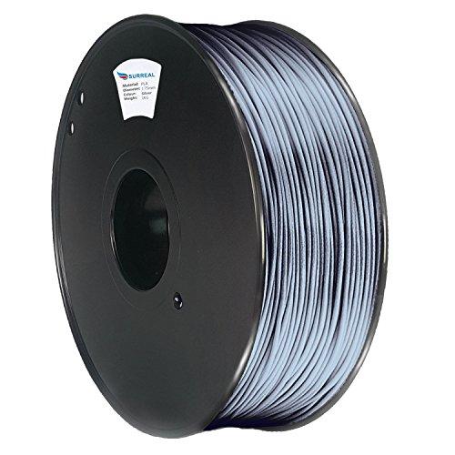 Surreal - PLA Filament 1.75mm - 1KG Rolle, Für 3D Drucker. Silber- / Silver
