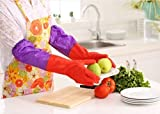 #3: SHAFIRE™ Long Rubber Latex Household Kitchen Gloves, Full Size - For Laundry, Dishwashing, Scrubbing Floors