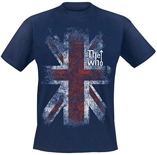 T-Shirt (Unisex-Xxl) Union Jack (Navy Blue) -