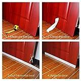 Tür-Saugnapfstopfen Ashnna Türbodendichtung Tür-Windschutzscheiben-Staubdichtung, versiegelte energiesparende Tür-Tür, geräuschdämpfende Tür, wetterfest, isoliert, 5,1 cm breit x 91,4 cm lang, weiß), weiß