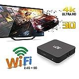 Yunn Android 7,1 Mini Smart TV Box, 4 Karat HD 2,4G / 5G WiFi Box Media Player