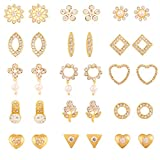 #3: Touchstone Gold Plated Combo Of 15 Pair Stud Earrings For Women