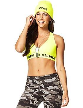 Zumba Fitness® Glow V - Ropa interior deportiva para mujer, color amarillo, talla XS