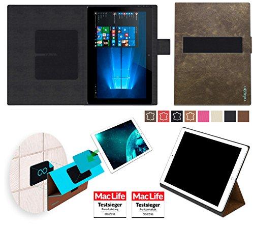 reboon Hülle für Allview WI10N Tasche Cover Case Bumper | in Braun Wildleder | Testsieger