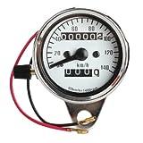 Motorrad Elektronischer Tachometer - TOOGOO(R)Motorrad Mini Elektronischer Tachometer mit Kilometerzaehler Nachtlicht