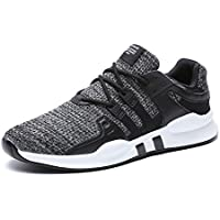 Senbore Mens Sports Shoes Trainers Running Sneakers Lace-Up Casual Breathable Outdoor Tennis