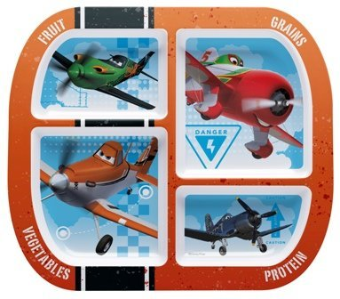 zak Design Disney Planes plna-0352Gesunde von Design unterteilten Teller, 6Stück - Kinder Platten Für Aufgeteilt