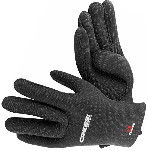 Cressi Unisex Handschuhe High Stretch, Schwarz, L, LX475703