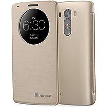 """Greatshield GS03669 5.5"""" Folio Oro funda para teléfono móvil - Fundas para teléfonos móviles (Folio, LG, LG G3, 14 cm (5.5""""), Oro)"""