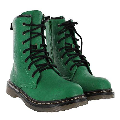 Kick scarpe da donna pizzo caviglia retro da bagagliaio da donna funky vintage fangbanger martin caviglia bagagliaio Verde
