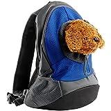 Ducomi® Pets Courmayeur Mochila para transporte Perros y cachorros de tela de camiseta elástica y transpirable, azul