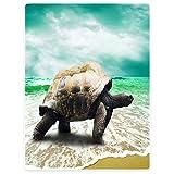 YISUMEI Decke 150x200 cm Kuscheldecken Sanft Flanell Weich Fleecedecke Bettüberwurf Schildkröte Meer Strand