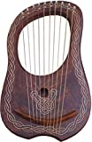 New Lyra Harp Rosewood 10 Metal Strings/Rosewood Lyre Harp Metal Strings Free Case
