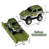 Car Track mit 2 Dinosaurier und Auto Rennbahn Spiel Set Montage Spielzeug für Kinder ab 3 4 5 Jahre - 5