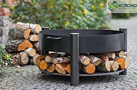 Korono Elegant Designer Fire Bowl 60cm for Wood Practicality and Great Design   Stylish Beleutung–Fire Heat Source