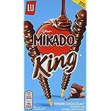 Mikado King Choco - Palitos De Galleta Chocolate, 51 gr. - [Pack de 8]