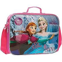 DISNEY Frozen Magic - Cartella Orizzontale per Bambina - con Tracolla - Rosa