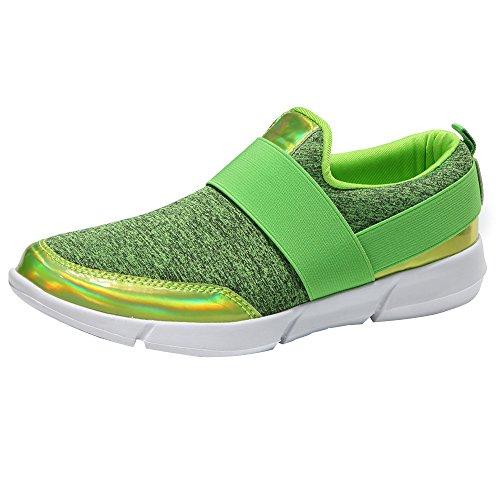MOIKA Damen Fitness Laufschuhe Sportschuhe Schnüren Running Sneaker Netz Gym Schuhe