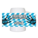 Lustiger Bierkrug mit Namen Stefan und schönem Motiv Finger weg! Dieses Bier gehört Stefan | Bier-Humpen | Bier-Seidel