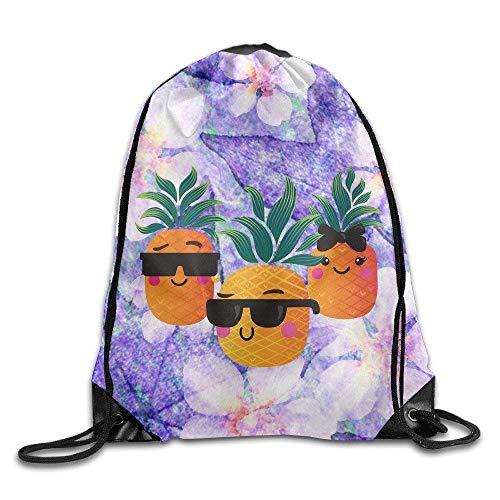 Etryrt Turnbeutel/Bedruckte Sportbeutel, Premium Drawstring Gym Bag, Cute Pineapple Bags Funny Summer Bags Drawstring Backpack Bulk 50 Drawstring Backpack for Girls -