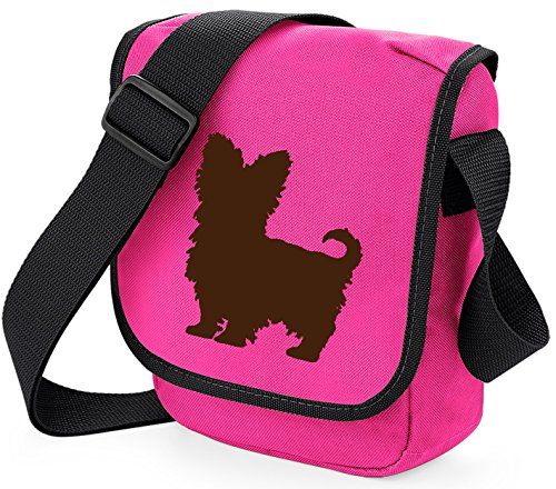 Bag Pixie - Borsa a tracolla unisex adulti Brown Dog on Pink