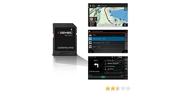 Zenec Z Emap66 Mh3 Micro Sd Card With Motorhome Navigation For Zenec Car Radios Multimedia Systems Z E3766 And Z N966 3d Maps For Europe Camping P O I For Motorhomes Tmc Navigation Car Hifi